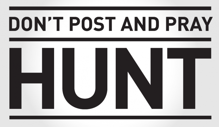 don't post and pray