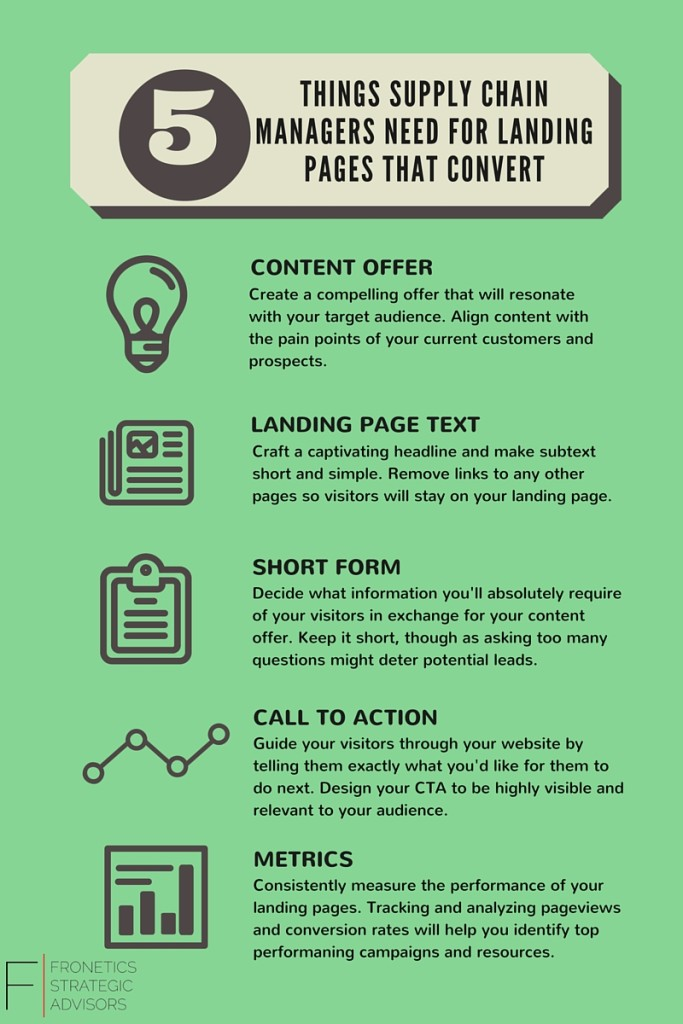 5 things supply chain managers need for landing pages that convert