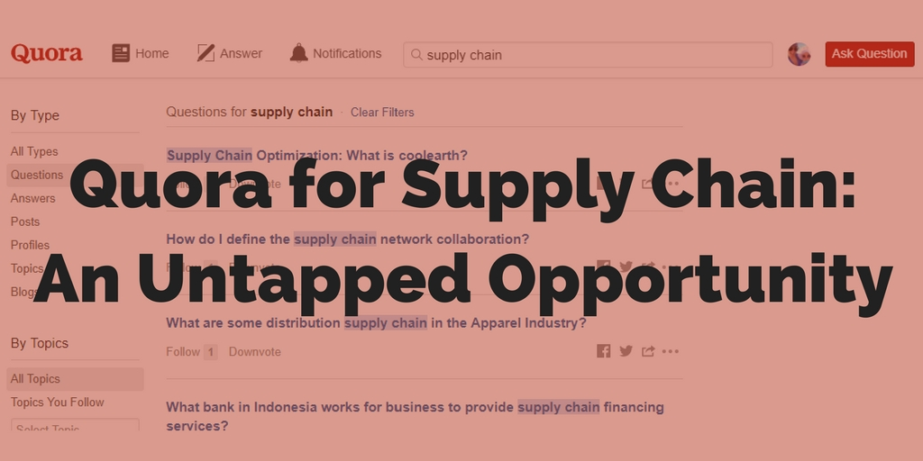 Quora for Supply Chain Part 2: How B2B Businesses Are Successfully Using Quora